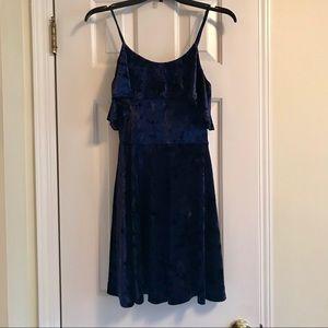 Aqua velvet dress